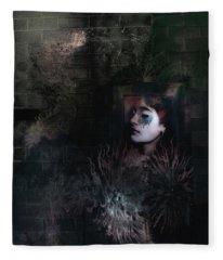 Face In The Door Fleece Blanket