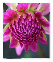 Face Of Dahlia Fleece Blanket