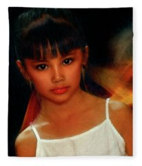 Face Of Innocence  Fleece Blanket