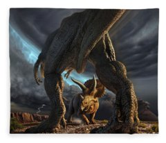 Battle Digital Art Fleece Blankets
