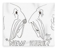 Face To Face Fleece Blanket