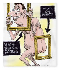 Facebook Privacy Fleece Blanket