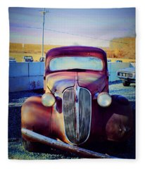 Facelift Wanted Car Fleece Blanket