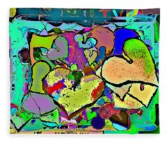 Facilitated To The Color That Is Love Fleece Blanket
