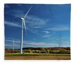 Facing The Wind Fleece Blanket