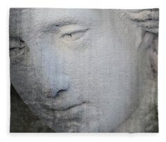 Faded Statue Fleece Blanket