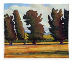 Fairfield Tree Row Fleece Blanket