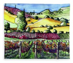 Fairfield Vineyards Fleece Blanket