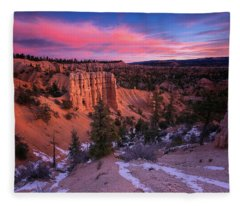 Fairyland Loop Trail Fleece Blanket
