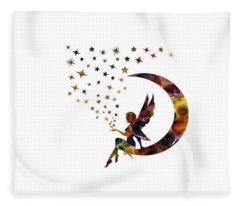 Fairy And Stars Fleece Blanket