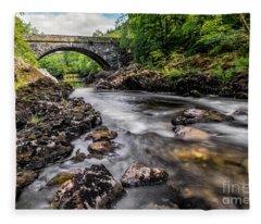 Fairy Glen Bridge Fleece Blanket