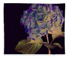 Fairy Hydrangea Fleece Blanket