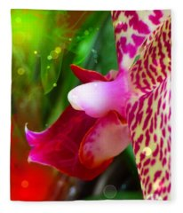 Fairy Orchid Fleece Blanket