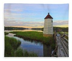 Fairy Tale On The River Fleece Blanket