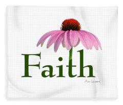 Faith Coneflower Shirt Fleece Blanket