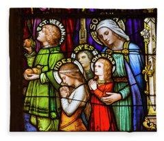 Faith, Hope, And Charity Fleece Blanket