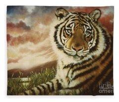 Blue Cat Productions          Faith Tiger Fleece Blanket