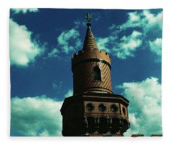 Fake German Castle Or Oberbaumbruecke Fleece Blanket