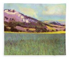 Falkenstein Landscape In Lower Austria Weinviertel Fleece Blanket