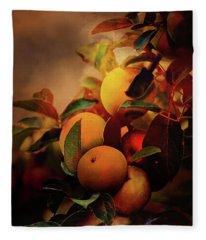 Fall Apples A Living Still Life Fleece Blanket