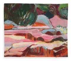 Fall At Slide Rock I Fleece Blanket