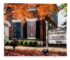 Fall At The Gold Museum Fleece Blanket