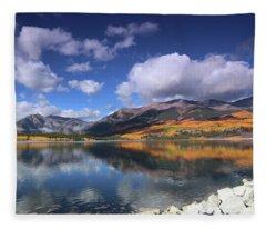 Fall At Twin Lakes Fleece Blanket