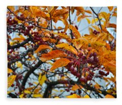 Fall Berries Fleece Blanket
