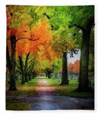 Fall Color Fleece Blanket