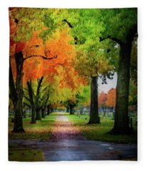 Fall Color Fleece Blanket
