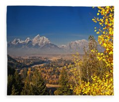 Fall Colors At The Snake River Overlook Fleece Blanket