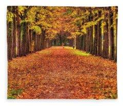 Fall Colors Avenue Fleece Blanket