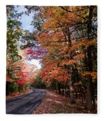 Fall Colors Backroad Fleece Blanket