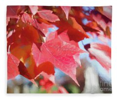 Fall Colors Oil Fleece Blanket