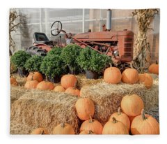 Fall Display Fleece Blanket