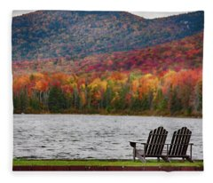 Fall Foliage At Noyes Pond Fleece Blanket