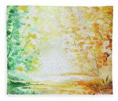 Fall Glow Fleece Blanket