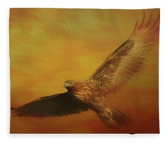 Fall Hawk Fleece Blanket