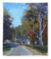 Fall In Glen Williams On Fleece Blanket