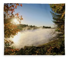 Fall In New England Fleece Blanket
