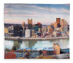 Fall In Pittsburgh  Fleece Blanket