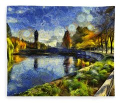 Fall In Riverfront Park Spokane Fleece Blanket
