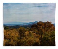 Fall In The Desert Fleece Blanket