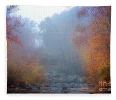 Fall In The Fog Fleece Blanket
