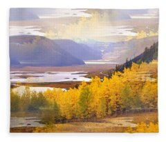 Fall In The Rockies Fleece Blanket