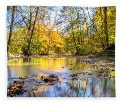 Fall In Wisconsin Fleece Blanket