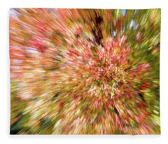 Fall Leaves Abstract 7 Fleece Blanket