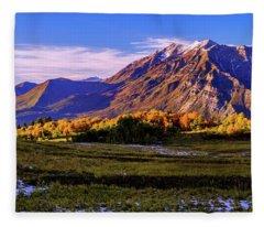 Fall Meadow Fleece Blanket