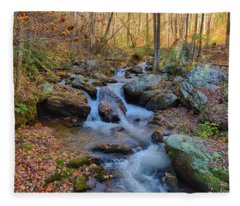 Fall Mountain Stream 2 Fleece Blanket
