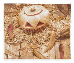 Fall Of Halloween Fleece Blanket